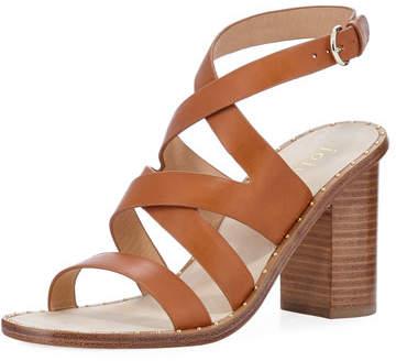 Joie Onfer Strappy Leather Block-Heel Sandal