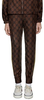 Gucci GG Supreme Print Silk Pants