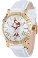 Disney Princess Disney Minnie Mouse Womens White Leather Strap Watch-W001859