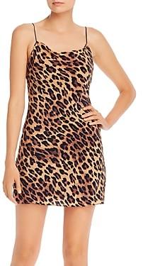Alice + Olivia Harmony Leopard Print Slip Dress
