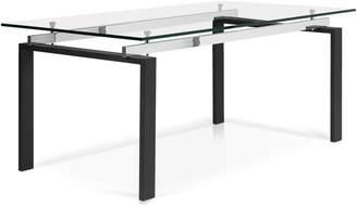 Korson Lulie Rectangular Glass Top Dining Table