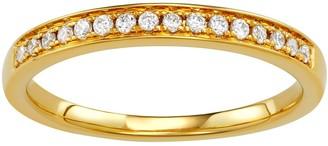 Simply Vera Vera Wang 14k Gold 1/6 Carat T.W. Diamond Wedding Band