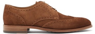 Tod's Brushed Suede Brogues - Mens - Brown