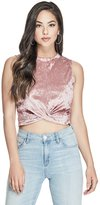GUESS Women's Carrie Crushed Velvet Top