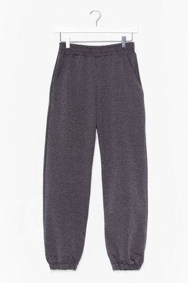 Nasty Gal Womens Acid Wash Going On High-Waisted Joggers - Grey - L, Grey