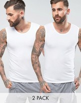 HUGO BOSS Boss By Singlets 2 Pack In Regular Fit