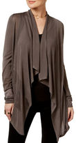 I.N.C International Concepts Petite Petite Draped-Front Pointelle Cardigan