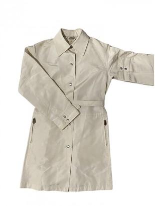 Hermes Beige Silk Coats