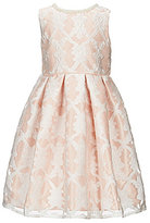 Jayne Copeland Little Girls 2T-6X Embroidered Lace Overlay Fit-And-Flare Dress