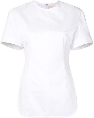 KHAITE Renny poplin blouse