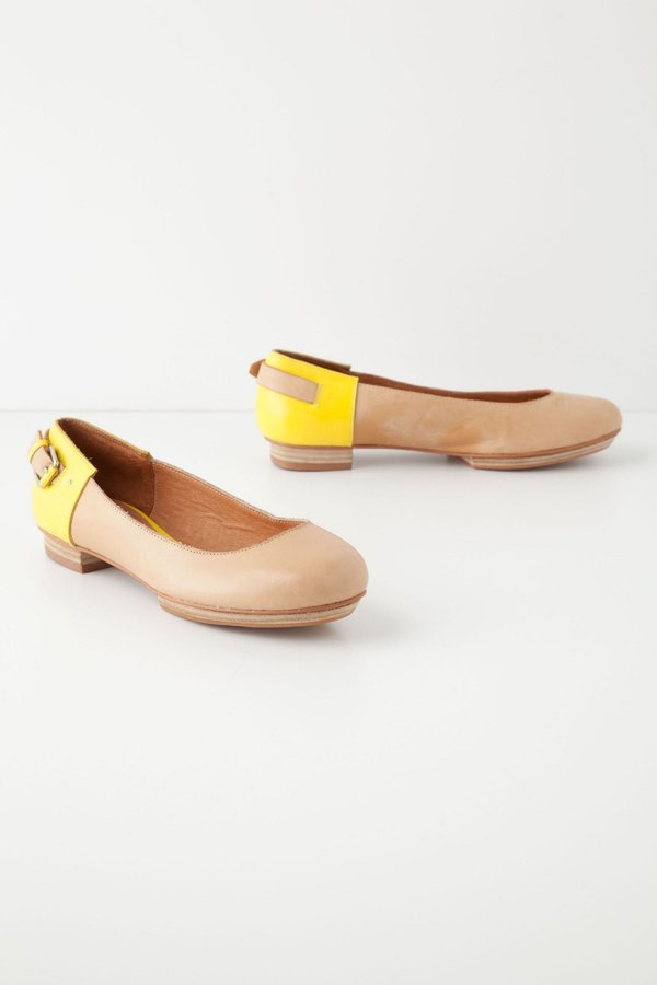 Anthropologie Beatriz Buckled Flats