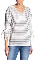 Democracy Long Sleeve Drop Shoulder Stripe Blouse