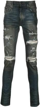 Amiri cashmere patch skinny jeans