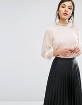 Oasis Chiffon Sleeve Knit Sweater