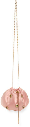 Rosantica Edith Crystal Eyelet Drawstring Shoulder Bag