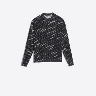 Balenciaga Jacquard Crewneck Sweater