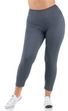 24seven Comfort Apparel Women's Plus Size Comfortable Ankle Length Stretch Leggings