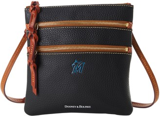 Dooney & Bourke MLB Marlins N S Triple Zip Crossbody