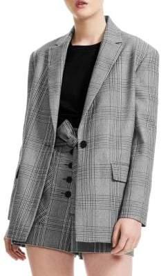 Maje Women's Check Jacket - Checked - Size 40 (8)