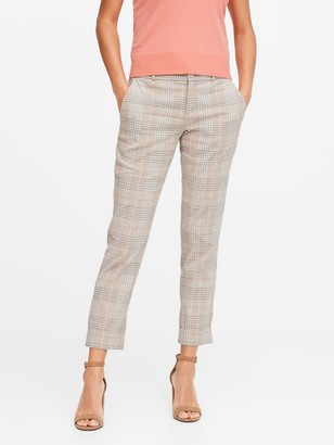 Banana Republic Avery Straight-Fit Linen-Cotton Ankle Pant