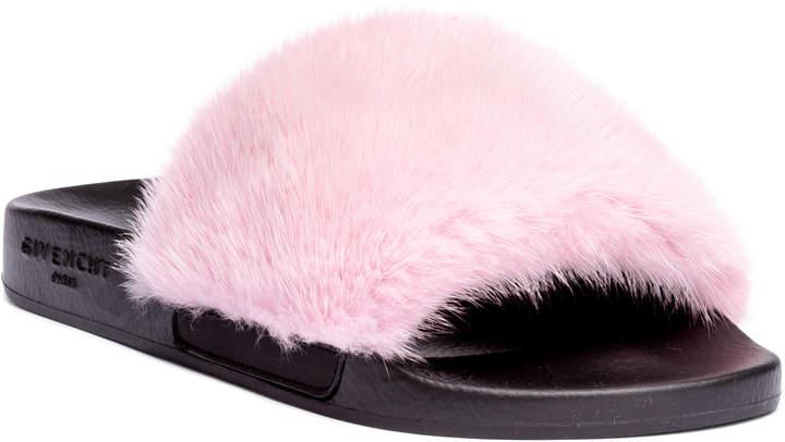 Givenchy Pink mink slide sandals