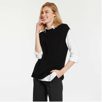 Joe Fresh Women's Sleeveless Sweater, JF Black (Size S)