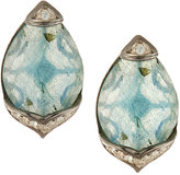 Jude Frances City Lights Delicate Pave Pear Topaz Stud Earrings