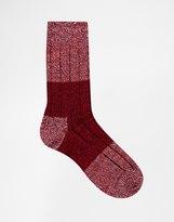 Happy Socks Wool Boot Socks - Blue
