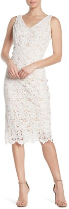 Marina Lace V-Neck Midi Dress