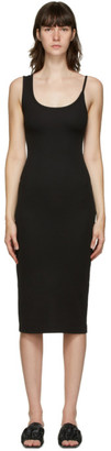 CHRISTOPHER ESBER SSENSE Exclusive Black Asymmetric Strap Midi Dress