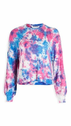 Cupcakes And Cashmere Women's Gracey Tie Dye French Terry Long Sleeve Pullover