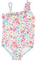 Hula Star Girl's 'Bathing Beauty' Floral Print One-Piece Swimsuit