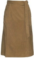 Frame Le Wrap suede skirt