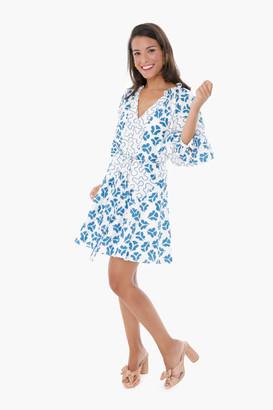 Rebecca Taylor Snow Combo Perla Petal Dress