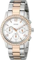 GUESS GUESS? Women's U0122L1 Two-Tone Stainless-Steel Quartz Watch with Dial