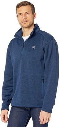 Ariat Caldwell 1/4 Zip Sweater (Indigo Heather) Men's Clothing