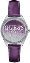GUESS Purple and Silver-Tone Iconic Sparkle Watch