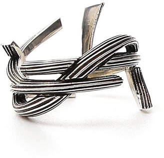 Saint Laurent Interlaced Monogram Ring
