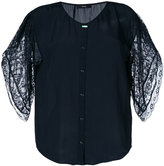 Diesel lace sleeves shirt - women - Polyester/Viscose - XS