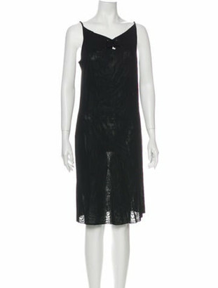 Gucci V-Neck Midi Length Dress Black