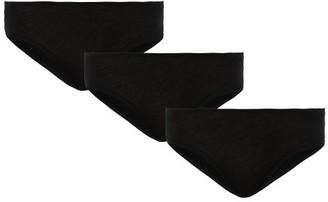 Skin Pack Of Three Pima-cotton Briefs - Black