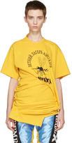 Junya Watanabe Yellow Ruched Side T-Shirt