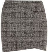 River Island Womens Black check mini skirt