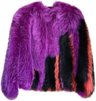 Fendi Purple Fox Jackets