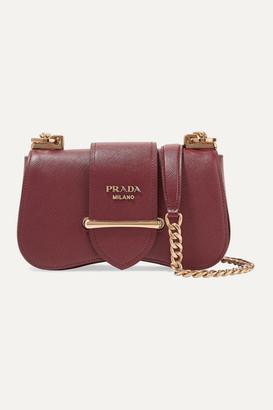 Prada Sidonie Small Textured-leather Shoulder Bag - Burgundy