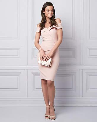 Le Château Stretch Twill Cold Shoulder Cocktail Dress