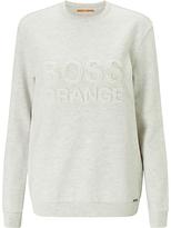 HUGO BOSS BOSS Orange Talogo Sweatshirt, Open White