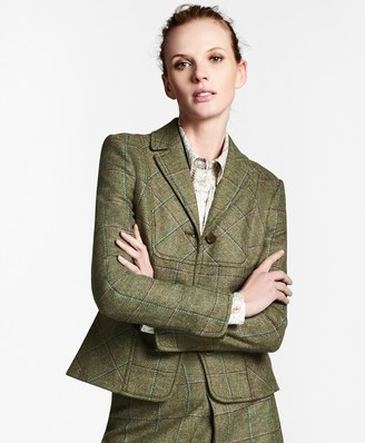 Brooks Brothers Checked Wool Tweed Jacket