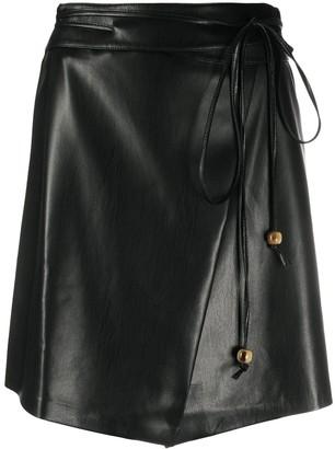 Nanushka tie-waist skirt