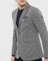 Ted Baker Textured Jersey Blazer Charcoal